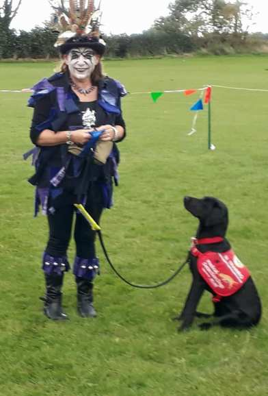 Second in thr 'prettiest bitch' competion. The dog did quite well too!